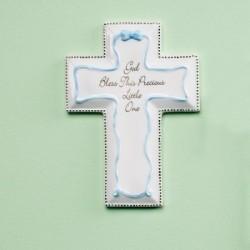 "Wall Cross-Baptism-Blue (6"")"