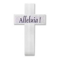 Yard Sign-Alleluia Cross W/...