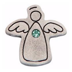 Lapel Pin-Birthstone-Angel-May
