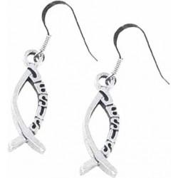 Earring-Ichthus W/Jesus...