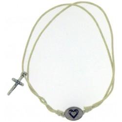Bracelet-White Cotton...