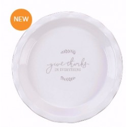 """Pie Plate-Give Thanks (9.5"""")"""