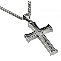 Necklace-Iron Cross-Man Of...