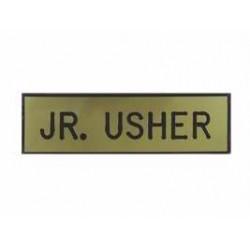 Badge-Jr Usher-Pin w/Safety...