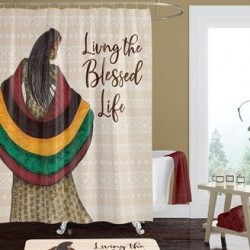 Shower Curtain-Living The...