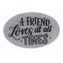 Proverb Stone-A Friend...
