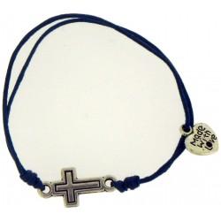 Bracelet-Dark Blue Cotton...