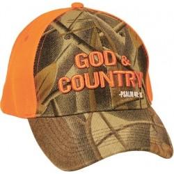 Cap-God & Country-Camo/Orange