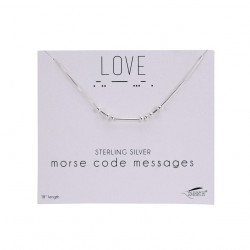 Necklace-SS Morse Code-Love...