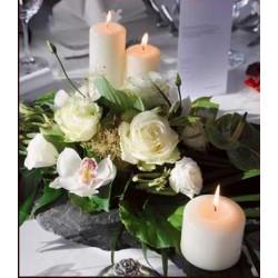 "Candle-White Pillar-3"" X 9"""