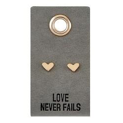 Earrings-Love Never...