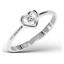 Ring-Heart w/Cubic Zirconia...