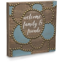 Plaque-Welcome Family &...
