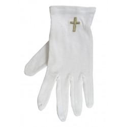 Gloves-Gold Cross...