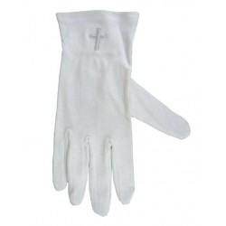 Gloves-White Cross Cotton-XLG