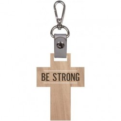 Key Chain-Cross-Be Strong...