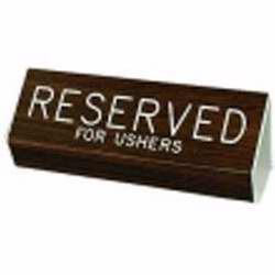 Sign-Reserved For Ushers (3x6)