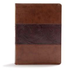 CSB Study Bible-Mahogany...