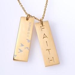 Necklace-Double Bar-Faith