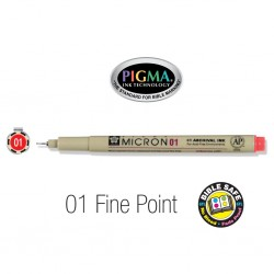 Pen-Pigma Micron Pen (01)-Red