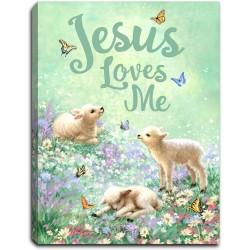 Mini Canvas-Jesus Loves...