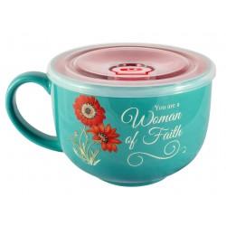 Soup Mug-Woman Of Faith...