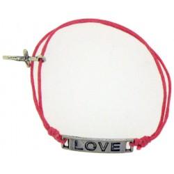 Bracelet-Dark Pink Cotton...