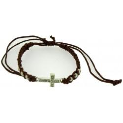 Bracelet-Dark Brown Cotton...