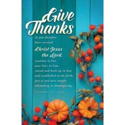 Bulletin-Give Thanks...