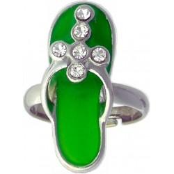 Ring-Green Sandal-Cross...