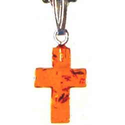 Charm-Amber Crosses With...