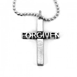 Necklace-Pewter Forgiven...