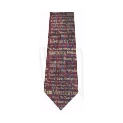 Tie-I Am-Polyester-Burgundy