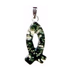 Necklace-Moss Agate Small...