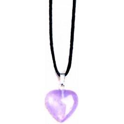 "Necklace-Amethyst Heart-31""..."