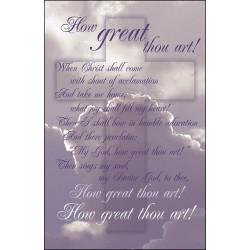 Bulletin-How Great Thou Art...