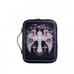 Bible Cover-Faith w/Wings &...