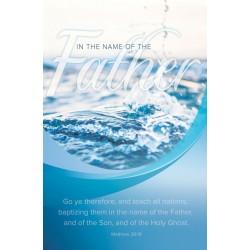 Bulletin-Baptism: Baptizing...