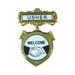 Badge-Usher Welcome-Pin...
