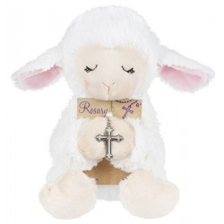 """Plush-Lamb w/Rosary (8 1/2"""")"""