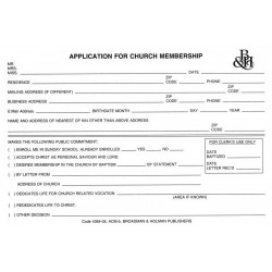 Form-Application For Church...