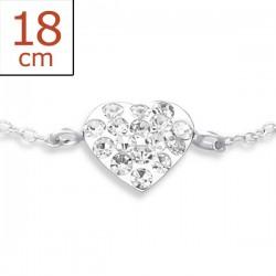 Bracelet-Heart w/Clear...
