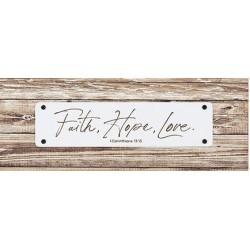 Tabletop Plaque-Faith Hope...