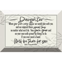 Glass Plaque-6X4-Daughter