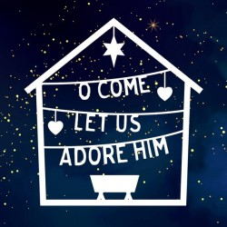 Card-Christmas-O Come! Let...