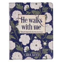 He Walks With Me-White Floral