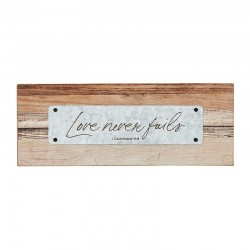 Tabletop Plaque-Love Never...