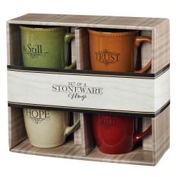 Ceramic Mug Set-Faith Trust...