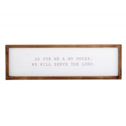 Wall Plaque-As For Me And...