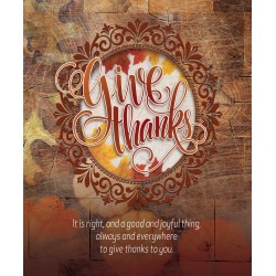 Bulletin-Give Thanks (Pack...
